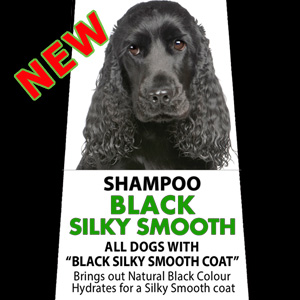 ECO SIZE Black Silky Smooth Shampoo - 2 Litre (8 Litres diluted) Cocker Spaniel, Flat Coated Retriever, Rottweiler