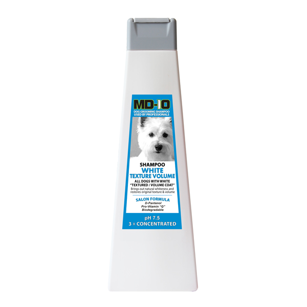 MD10 White Texture Shampoo 750ml (3 Litre Diluted) Australian Shepherd  Shetland Old English Sheepdog Poodle Bichon Frise Bolognese Shiba Lagotto